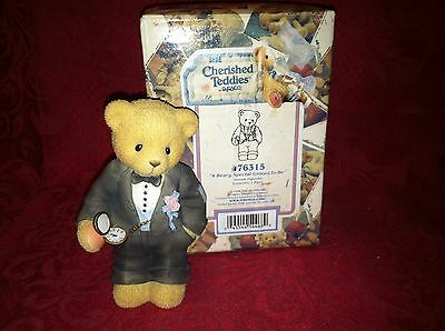 Cherished Teddies A Beary Special Groom To Be 476315 98 MINT w Box
