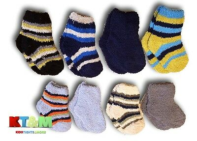 Baby Boy Toddler Soft Cosy Fluffy Warm Winter Socks, Size 12 Months to 3 Years
