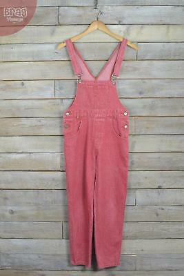 Vintage Faded Red Tapered Dungarees (S)