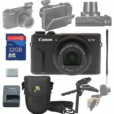 Canon PowerShot G7 X Mark II Digital Camera + 32GB SD + Accessory Bundle