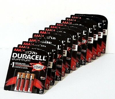 (52) DURACELL Quantum Alkaline AAA Batteries 52 Counts, Sealed NEW Exp. 2023+
