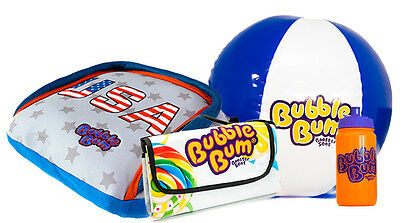 BubbleBum Car Booster Seat - On The Road Bundle - Stars & Stripes
