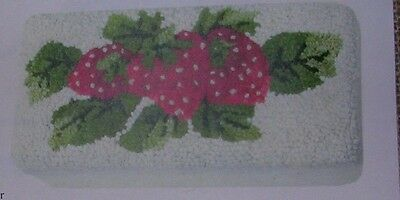 Strawberry Rug Kit By Joan Moshimer