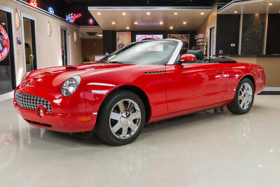 2002 Ford Thunderbird Base Convertible 2-Door Factory Original, 1 Owner, Only 881 Original Miles, Clean Carfax, 2 Tops, Loaded
