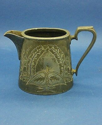 19th C Pewter Cream or Whisky Water Jug