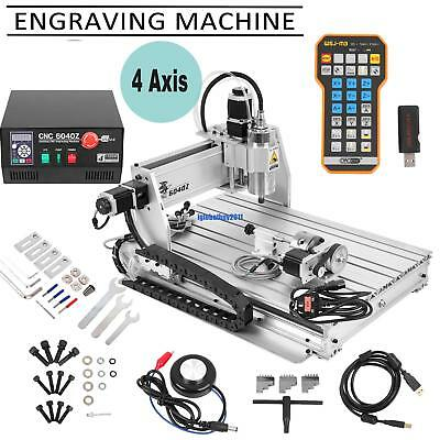6040Z 4 Axis USB CNC Router Engraver 3D Cutter Engraving Milling Artwork Printer
