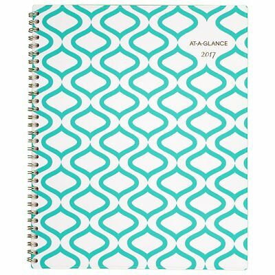 "AT-A-GLANCE Weekly / Monthly Planner / Appointment Book 2017, 8-1/2 x 11"", Teal"