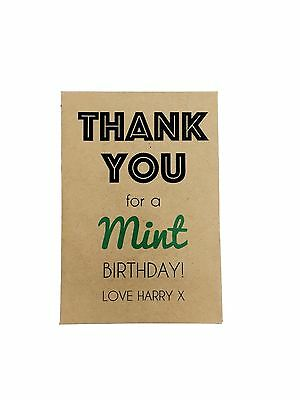 10 x MINT BIRTHDAY Seed Gifts Favours - Personalised inc's Seed & Packet