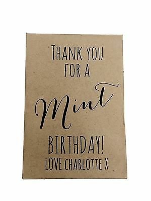 10 x MINT BIRTHDAY Seed Gifts Favours - Personalised inc's Seed & Packet Party