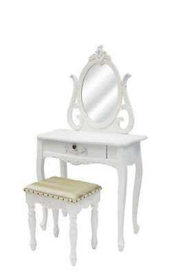 NEW Dressing Table with Mirror and Stool in White