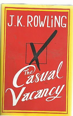 the casual vacancy by jk rowling hardback very good