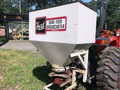 Herd 750 3-Point Sure-Feed Broadcaster Grass Seeder, Fertilizer Spreader