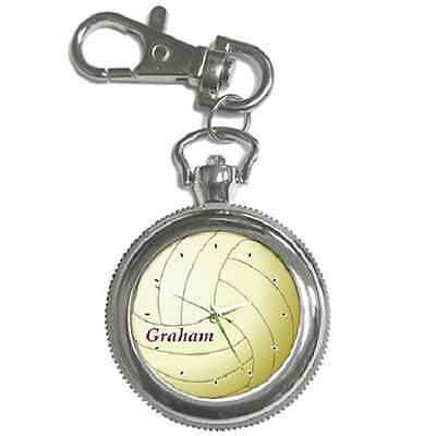 Volleyball Customised Name Keychain  Watch **brilliant Gift Item**