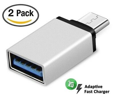 2 PACK USB 3.1 USB-C Type C Male to USB A 3.0 Female Converter Adapter for Mac