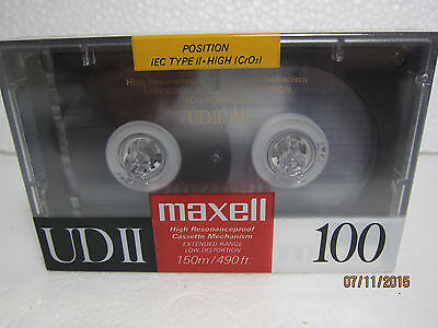 Maxell UDII 100 Audio Cassette Tape (Brand New Unopened) Made in Japan
