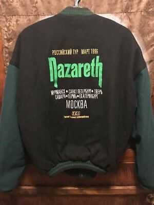 NAZARETH 80s Heavy Metal ~ RARE VINTAGE 1996 Russian Concert Tour Wool Jacket