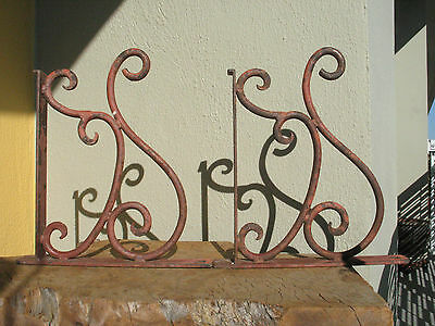 A1501 Vintage Wrought Iron Granite, Marble, Shelf Support Brackets Heavy Duty