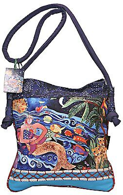 Laurel Burch Ocean Song  Mermaid Crossbody Bag
