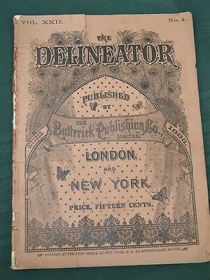 The Delineator orig 1883 Butterick Co Clothing Sewing Pattern Catalog Magazine