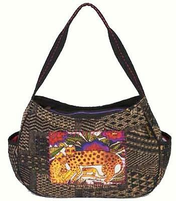 Laurel Burch Folklorica Leopards of Shambala Project Tote