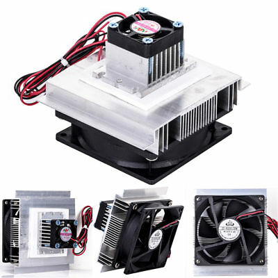 12V Thermoelectric Peltier Refrigeration Cooling Coolers Fan System Heatsink Kit
