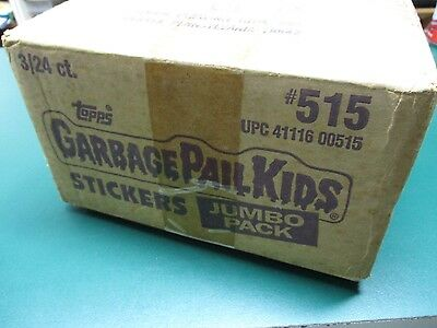 Vtg 1986 Topps Garbage Pail Kids GPK Series 4 / 5 OS4 Jumbo Pack Case Box RARE