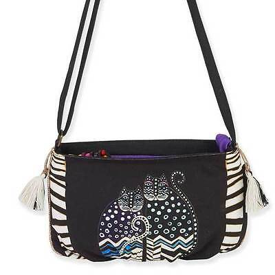 Laurel Burch Feline Crossbody Bag - Black