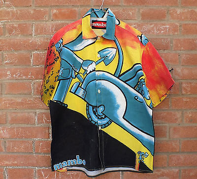 SURF RARE MAMBO LOUD SHIRT, Vintage, 90's, camicia uomo, made in italy, S