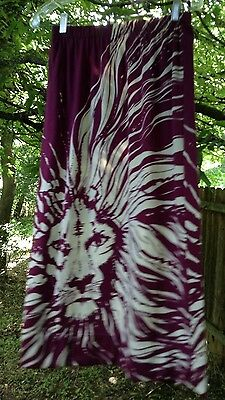 Paganne 60s Set 2 Pc Skirt Top Signed Fabric Lion Print Gene Berk Vtg. Small/Med