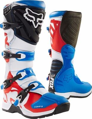 2018 Fox MX Comp 5 Boot Blue/Red