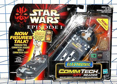 """Hasbro Star Wars Episode 1 Electronic Commtech Reader for 4"""" Figures MOC"""