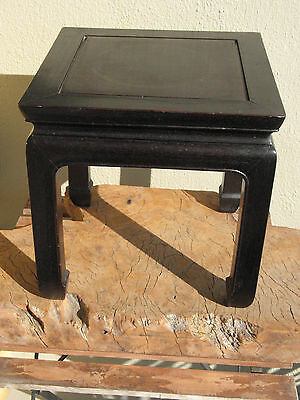 """A1661 Vintage Chinese Rosewood Stool or Plant Stand 13-7/8"""" x 13-7/8"""" x13-7/8"""""""