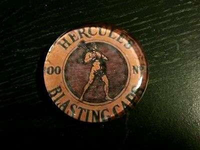 Vintage Style Hercules Blasting Caps Glass Paperweight...by Artist