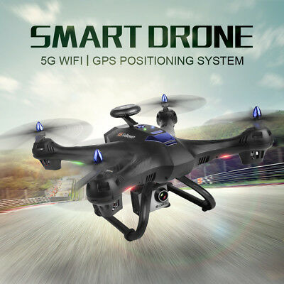 Global Drone X183 5.8GHz WiFi FPV 1080P Camera Dual GPS Brushless UFO Quadcopter