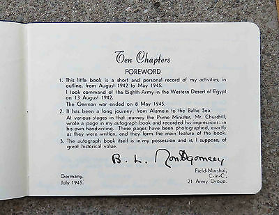 Orig Copy of WW2 Ten Chapters 1942- 1945 BL Montgomery's Personal Autograph Book