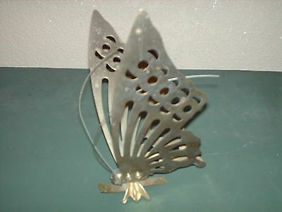 """Home Interiors Gold Metal Butterfly Figurine Replacement Part- 7"""" X 6"""" X 3 1/2"""" • $3.99"""