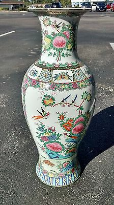 """Chinese Vase 25"""" tall 1940's -1950's Antique"""