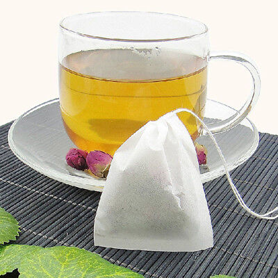 50Pcs a set Empty Teabags String Heat Seal Filter Paper Herb Loose Tea Bag White