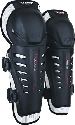 2018 Fox Youth Titan race Knee Guard Black/Silver