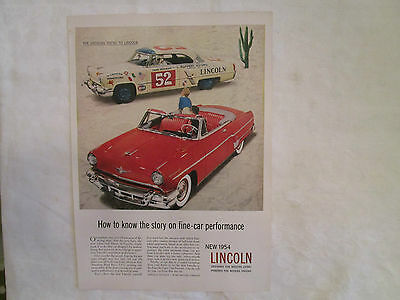 1954 Lincoln Capri Convertible & Hardtop Original Print Ad from May 1954