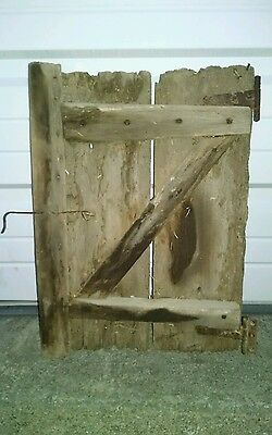 antiq 1900-era HORSE STALL BARN DOOR for head to stick outside 19inchesX13inches