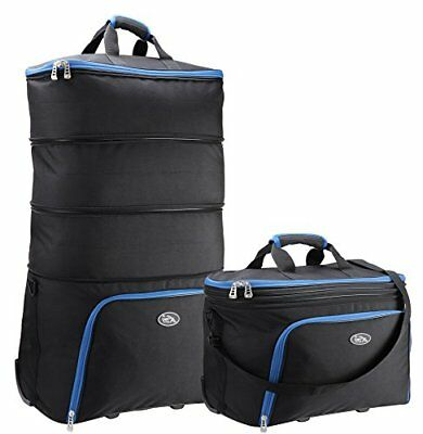 Cabin Max Brno Expandable Cabin Bag to XL Check In case 40x50x25cm Black/Blue