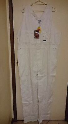 White Coverall / Overall Action Back Bisley Workwear Cotton 112R BAB0007R