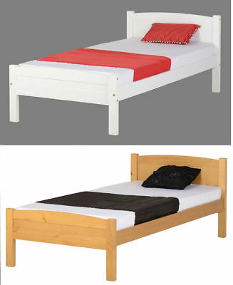 Seconique Amber Solid Wood 3ft Single Bed Frame In White or Antique Pine