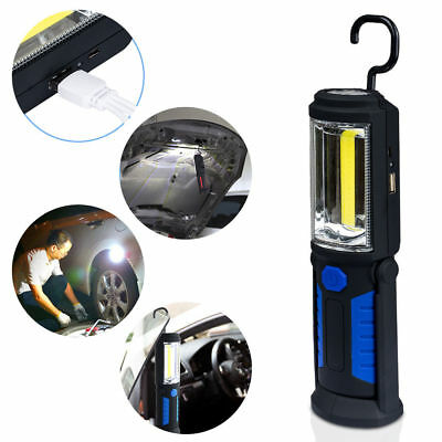 LED COB Inspection Lamp Work Light Flexible Rechargeable Hand Torch Magnetic AU
