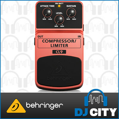 Behringer Classic Compressor/Limiter CL9 Electric Guitar Effects Pedal Stompbox