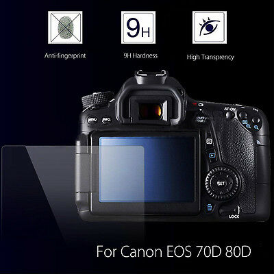 70D 80D LCD Guard Film Screen Display Protector cover Canon EOS Tempered Glass