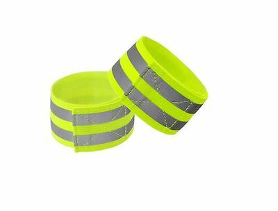 Safety Hi vis Arm band Reflective Hiviz Visibility run,bike,horse ridding 2 Pack