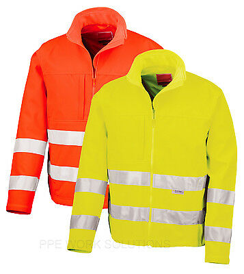 Result Safe-Guard Hi-Vis Tech Soft Shell Jacket Waterproof Viz Coat  (R117X)
