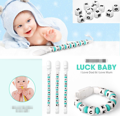 22cm Baby Safe Silicone Teething DIY Letter Bracelet Nursing Beads Chain Teether